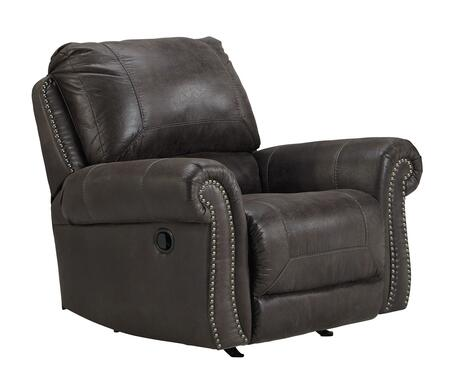 Milo Italia Catherine MI-5559ATMP Rocker Recliner with Thick Divided Back Cushion, Nail-Head Trim Accents and Stitching Details in