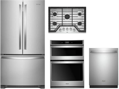 Whirlpool 1054250 Fingerprint Resistant Stainless Steel Kitchen Appliances Package