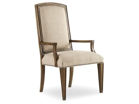 "Hooker Furniture Sanctuary Series 5401-755 44.25"" Dining Room Upholstered Chair with Tapered Legs, Nail Head Accents and Fabric Upholstery in Aurora Ecru"