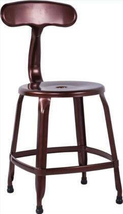 Chintaly 8036SCCOP 8036 Series Residential Not Upholstered Bar Stool