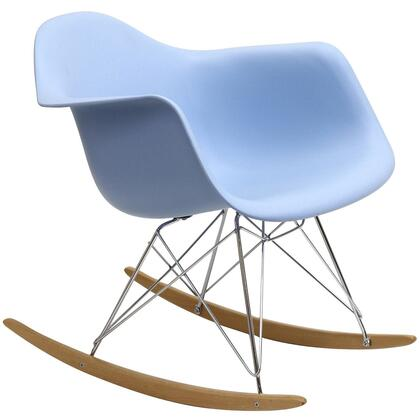 Modway EEI147BLU Rocker Series Armless  Metal Frame Not Upholstered Rocking Chair