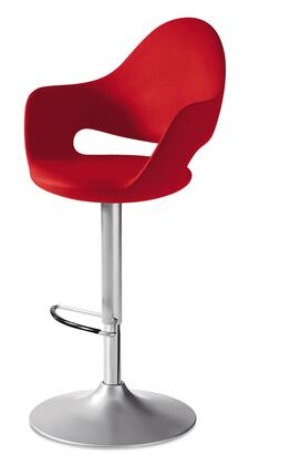 Domitalia SOFTGASZ15P Soft Swivel Stool with Lacquered Steel Frame, Adjustable Height and Integral Polyurethane Shell