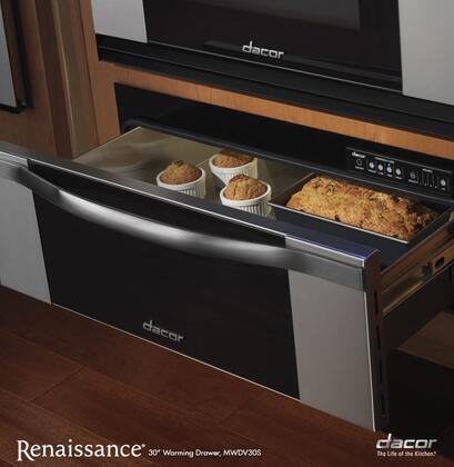 "Dacor Renaissance MWDV 30"" Millennia Warming Drawer with 500 Watt Heating Element, 4 Timer Settings, Infinite Mode and Blue LED Light Indicator"