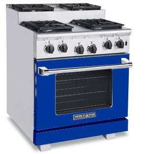 American Range ARR304SBU Titan Series Gas Freestanding Range with Sealed Burner Cooktop, 4.8 cu. ft. Primary Oven Capacity, in Sapphire Blue