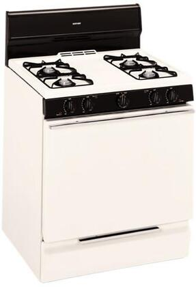 Hotpoint RGB524PEHCT  Bisque Gas Freestanding Range with Open Burner Cooktop, 4.8 cu. ft. Primary Oven Capacity, Broiler