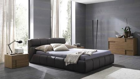 Rossetto T411602345A06 Cloud Series  Queen Size Platform Bed