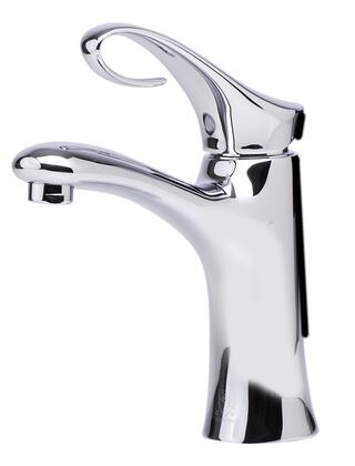 Alfi AB1295-xx Bathroom Faucet with Brass, Single Lever Control, Fixed Spout, Single Hole Mount and UPC Logo of Authenticity in