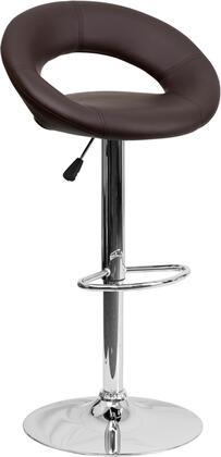Flash Furniture DS811BRNGG Residential Vinyl Upholstered Bar Stool