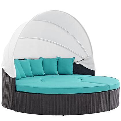 """Modway EEI2173EXPTRQSET 86.5"""" Water Resistant Canopy Outdoor Bed"""