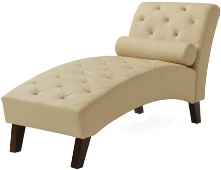 Glory Furniture G228CHS Newbury Series Contemporary Faux Leather Chaise Lounge