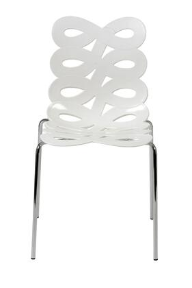 Euro Style 01177WHT Kristin Series  Dining Room Chair