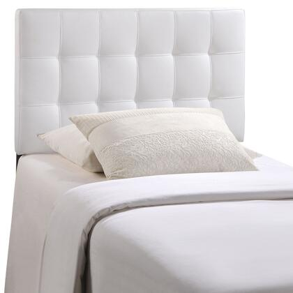 Modway MOD-51XX-WHI Countess Headboard with Elegant Button Tufted Details, Fiberboard and Plywood Frame, and Fine Vinyl Upholstery in White