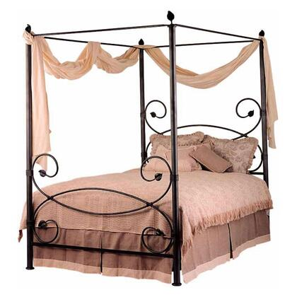 Stone County Ironworks 900739ACGA Castanea Series  King Size Canopy Bed