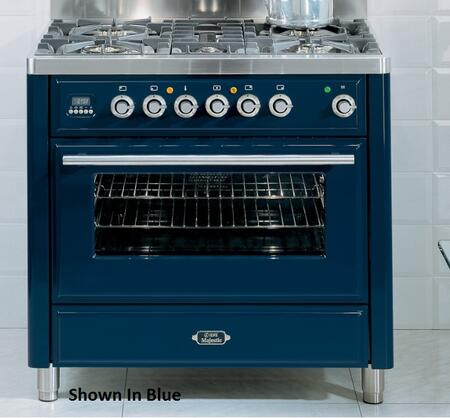 Ilve UMT90FVGGB Majestic Techno Series Gas Freestanding