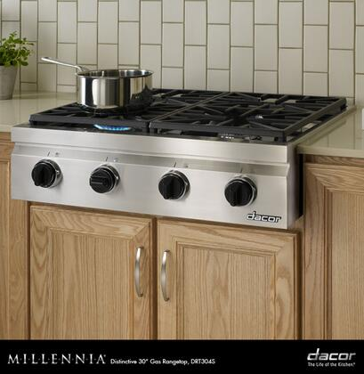 "Dacor DRT304SLPH 30"" Distinctive Series Gas Sealed Burner Style Cooktop, in Stainless Steel"
