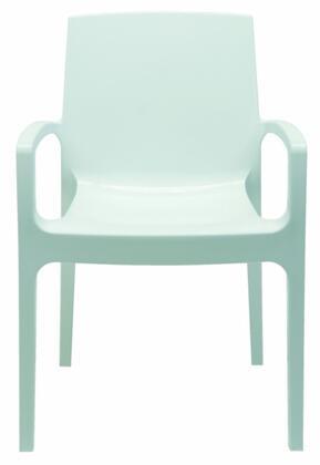 VIG Furniture VGIGCREAMWHT Modrest Cream Series Modern Not Upholstered Polyblend Frame Dining Room Chair