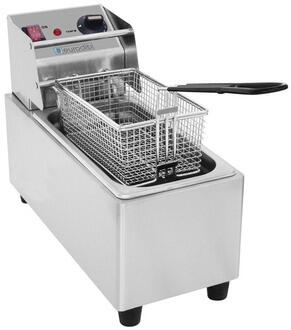 Eurodib SFE01860 Electric Countertop Fryer With Thermostat Control, 8 gal Capacity in Stainless Steel