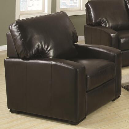 Coaster 504263 Kelsey Series Bonded Leather with Wood Frame in Brown