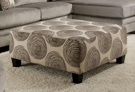 Chelsea Home Furniture 73864232GENS89595 Rayna Series Contemporary Fabric Ottoman