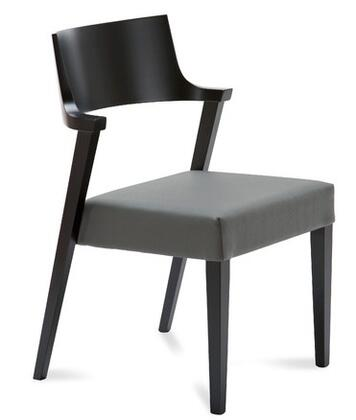Domitalia LIRICALNCGW02 Lirica Series Leather Wood Frame Accent Chair