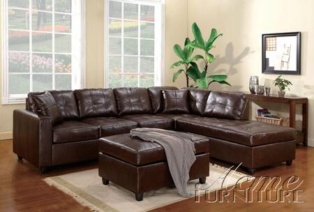 Acme Furniture 50093 Milano Series Sectional Leather Sofa