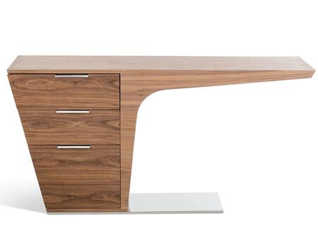 VIG Furniture VGBBLE015WAL Modrest Bismarck Series Writing  Veneers Desk