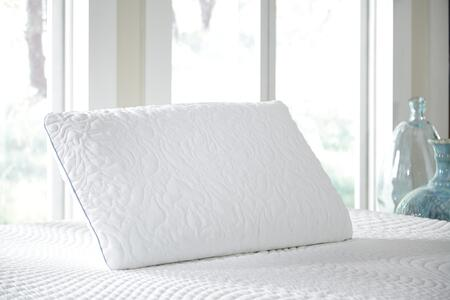 Signature Design by Ashley M825xx Set of 2 X Size Ventilated Pillow with Firm Eco Fusion Memory Foam  and Traditional Style in White