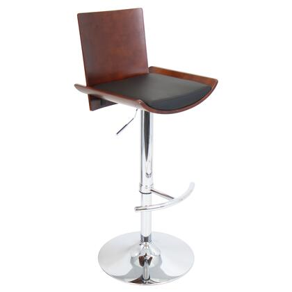 "LumiSource Vittorio BS-JY-VIT 38"" - 43"" Barstool with 360 Degree Swivel, Adjustable Height and Chrome Base in"