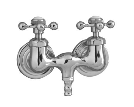 Barclay 4050MC Tub Filler with Old Style Spigot, Compression Stems, and Metal Cross Handles: