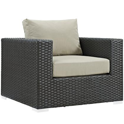 Modway EEI1850CHCBEI Sojourn Series  Aluminum Frame  Patio Arm Chair