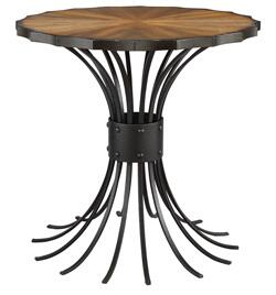 Stein World 119022 Market Square Series Traditional Round End Table