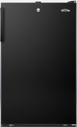 """AccuCold FF521BLX 20"""" FF521BLBIADA Series ADA Compliant Medical Freestanding or Built In Compact Refrigerator with 4.1 cu. ft. Capacity, Adjustable Glass Shelves, Crisper, Interior Light and Door Lock:"""