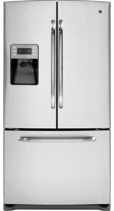 GE GFSS6KKYSS  French Door Refrigerator with 25.9 cu. ft. Total Capacity 4 Glass Shelves