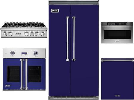 Viking 978242 6 piece Cobalt Blue Kitchen Appliances Package