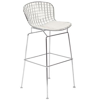 Modway EEI162WHI CAD Series Residential Vinyl Upholstered Bar Stool