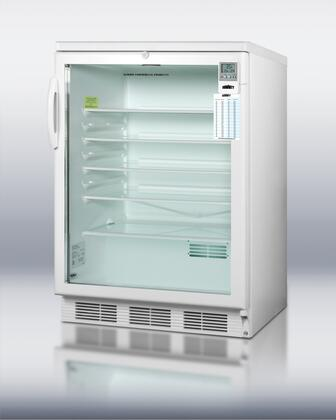 Summit SCR600LBIMED  Built In Counter Depth Compact Refrigerator with 5.5 cu. ft. Capacity, 4 Wire Shelves