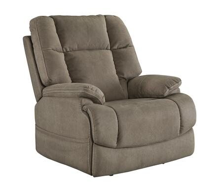 """Signature Design by Ashley Fourche Collection 6930X13 37"""" Power Recliner with Polyester Upholstery, Tufted Back and Stitching Detail in"""