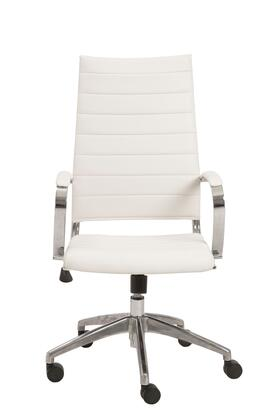 "Euro Style 00476WHT 22.75"" Modern Office Chair"