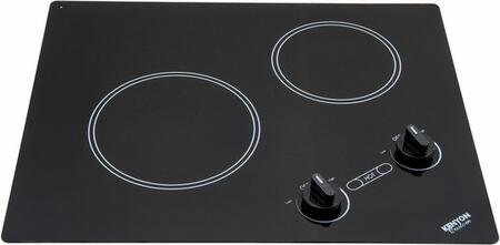 "Kenyon B41604 Cooktop Smoothtop No 21"" 19.5"" 2 Knobs Electric Cooktop  Appliances Connection"