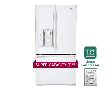 LG LFX31925SW  French Door Refrigerator with 30.7 cu. ft. Total Capacity 4 Glass Shelves