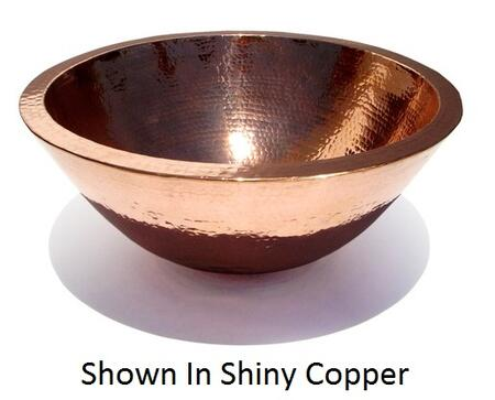 D'Vontz LV5001L15 Plain Hammered Copper Double Wall Vessel Sink With 77% Recycled Copper, 99% Pure Copper & In