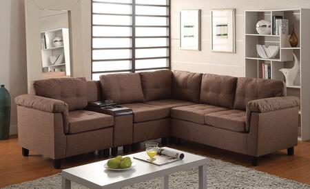 Acme Furniture 51530 Cleavon Series Stationary Fabric Sofa