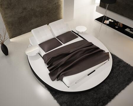 VIG Furniture Modrest Collection VGEVBS609X X Size Contemporary Eco-Leather Bed in White