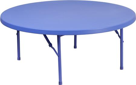 """Flash Furniture 48"""" Kids Folding Table with Stain Resistant, Protective Floor Caps, Waterproof, Powder Coated Locking Legs and Plastic Material in"""