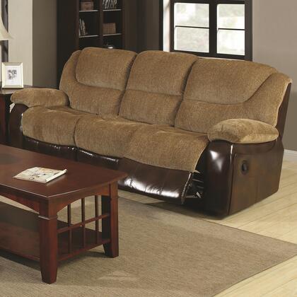 Coaster 600921 Malena Series Reclining Fabric Sofa