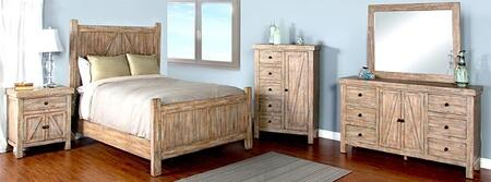 Sunny Designs 2307WBKBDM2NC Durango King Bedroom Sets