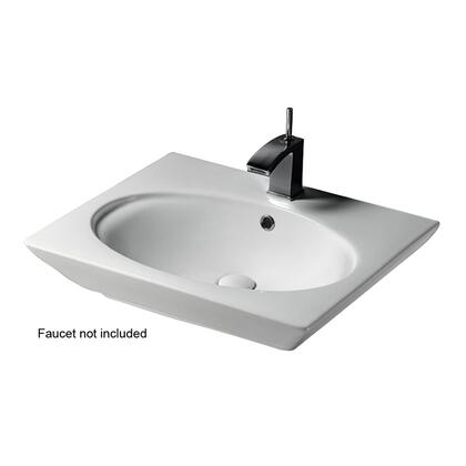 Barclay 437WH Opulence Wall-Hung Basin with Oval Bowl with in White