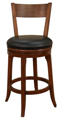 "American Heritage Autumn Series 100646 30"" Traditional Bar Stool With 3"" Cushion, Heavy Duty Construction, Full Bearing Swivel, Integrated Seat Back, and Floor Glides (Set of 2)"