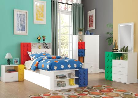 Acme Furniture Playground 5 Piece Twin Size Bedroom Set