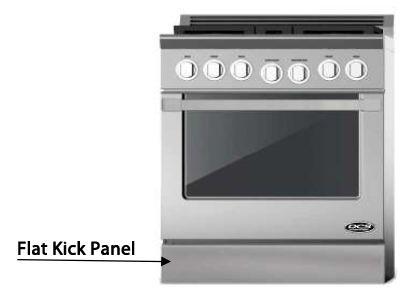 "DCS KPGU-XXSS XX"" Flat Kick Panel for use with XX"" DCS Gas Ranges, in Stainless Steel"